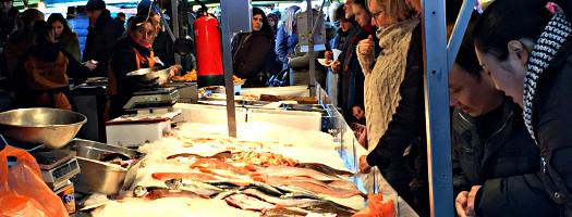 Fischstand Markt Enschede