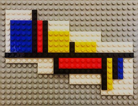 Amersfoort - Museumspädagogik im Mondrian-Haus - Lego-Mondrian