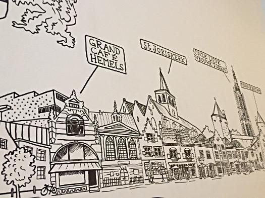 Amersfoort - Stadtpanorama im Frühstücksraum