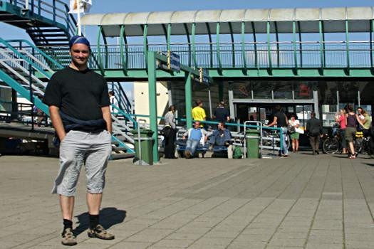 Oliver Hübner am Fährhafen Den Helder