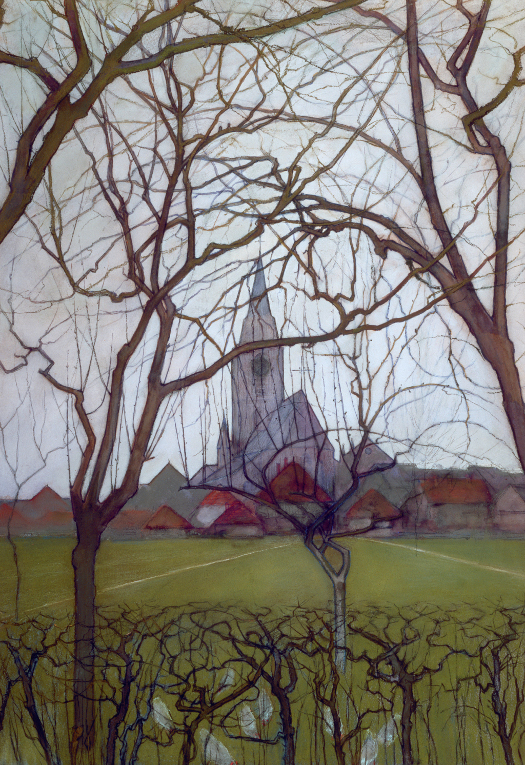 St. Jacob's church, Winterswijk *gouache on paper *75 x 50 cm *circa 1898 *signed b.l.: PIET MONDRIAAN