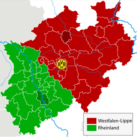 Karte von NRW