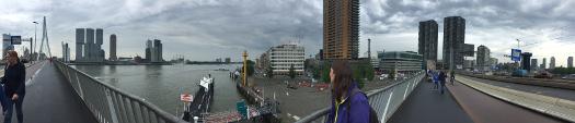 Rotterdam: Panorama von der Erasmusbrücke