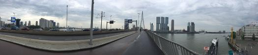 Rotterdam: Panorama von der Erasmusbrücke - Ostblick