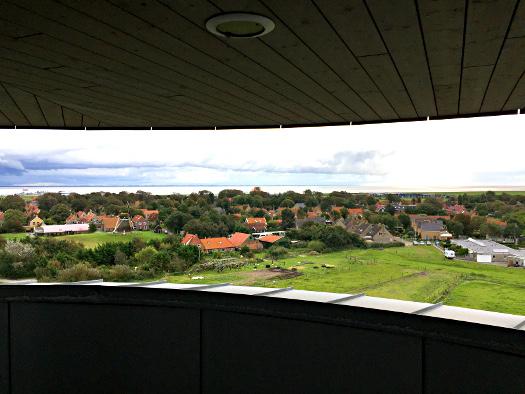 Blick vom Aussichtsturm auf Nes