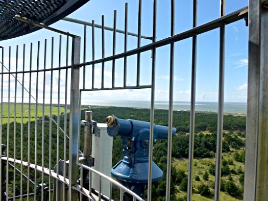 Blick in Richtung Westen vom Ameländer Leuchtturm