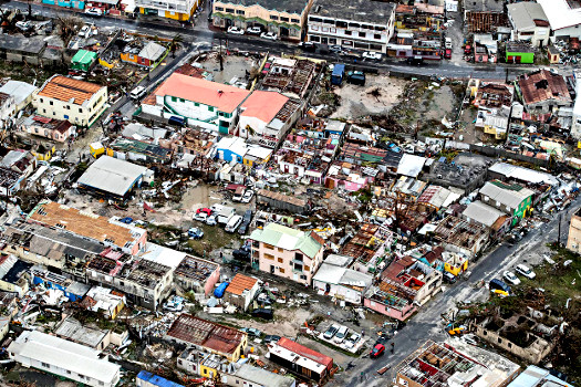Sint Maarten im September 2016, Verwüstung durch Hurrikan Irma