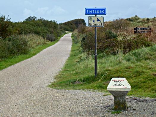 Radweg Ameland Naturschutzgebiet