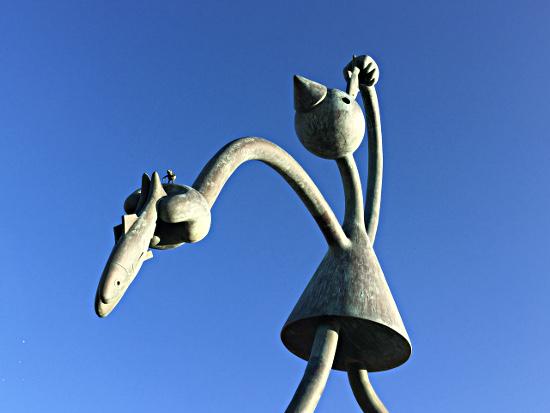 Skulptur vor dem Museum Beelden aan Zee