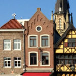 Giebelhäuser am Markt in Sittard