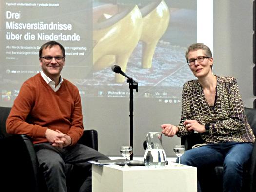 Alexandra Kleijn und Oliver Hübner im Haus der Niederlande
