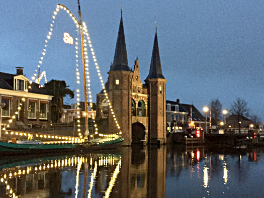 Waterpoort: Lichter in Sneek