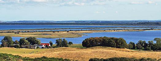Blick über Hiddensee und Rügen
