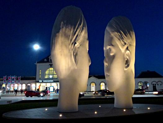 11 Fountains - Brunnen von Jaume Plensa in Leeuwarden zur Europäischen Kulturhauptstadt 2018