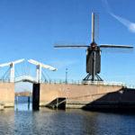 Zugbrücke, Bockwindmühle am inneren Stadthafen Heusden