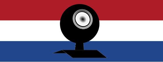 Grafik Webcam über niederländischer Fahne