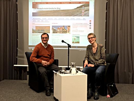Mit Alexandra Kleijn bei der Bloglese in Münster