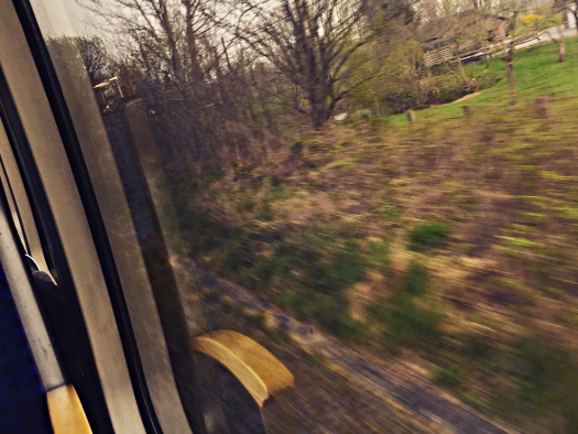 Blick aus dem Fenster der Regionalbahn