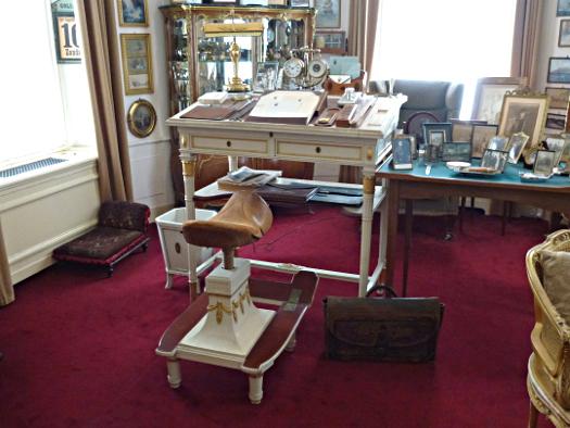 Schreibtisch und Stuhl des Kaisers Wilhelm II. in Haus Doorn