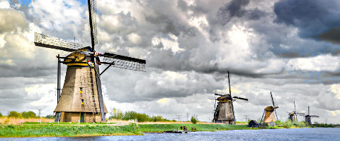 Windkraft im Polder - Mühlen in Kinderdijk
