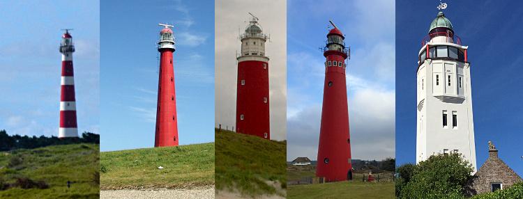 Die schönsten Leuchttürme der Niederlande