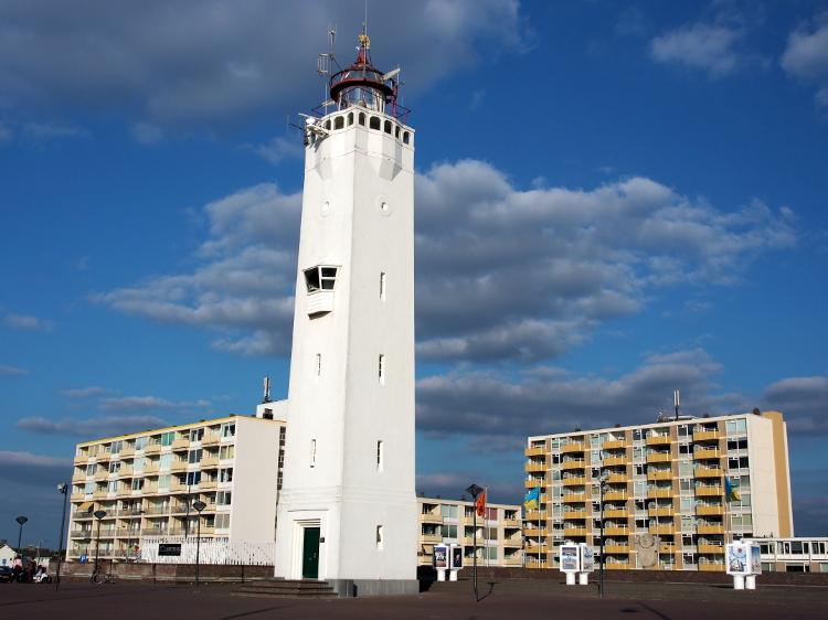 Leuchtturm Noordwijk, Foto: Alf van Beem