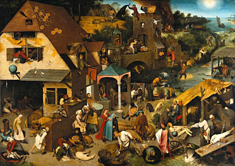 Niederländische Sprichwörter von Pieter Breughel - Public Domain