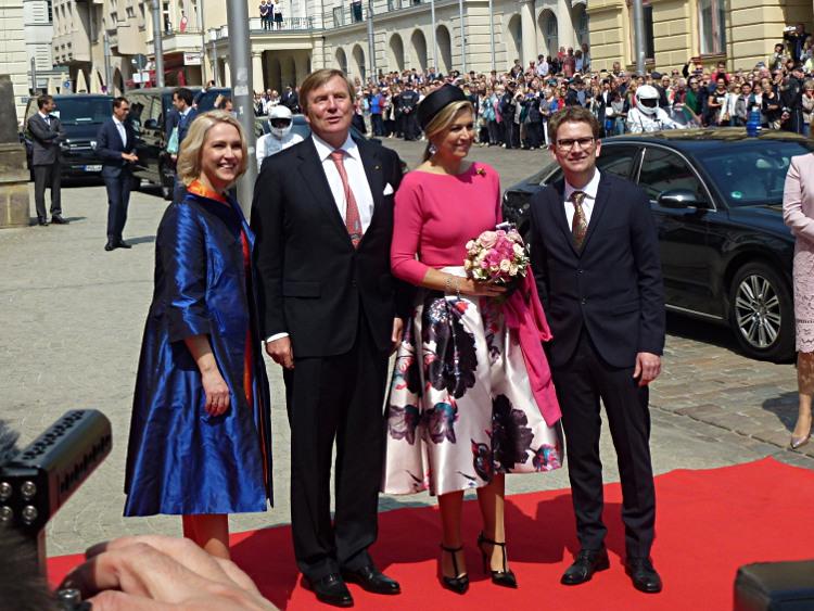 Besuch des niederländischen Königspaares in Schwerin - Ministerpräsidentin Manuela Schwesig, König Willem