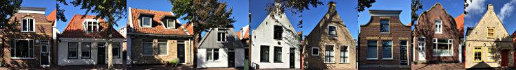 Häuser Dorpstraat Oost-Vlieland